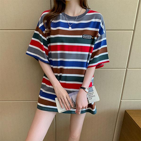 fashion-full-몬스터 박시핏 반팔 티셔츠(TIME SALE 20%)♡韓國女裝上衣