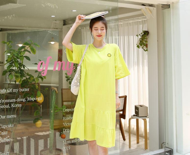 happy10-[*신상5% 기간한정할인*임부복*스마일캉캉 수유원피스]♡韓國孕婦哺乳服