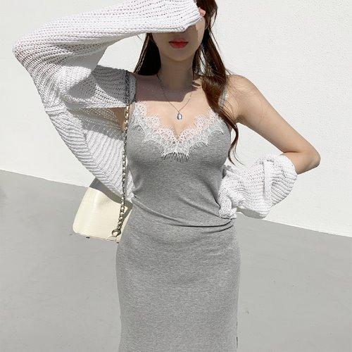 jnroh-포이 썸머 하찌 성글 볼레로 니트 가디건 (아이보리,베이지,블랙)♡韓國女裝外套