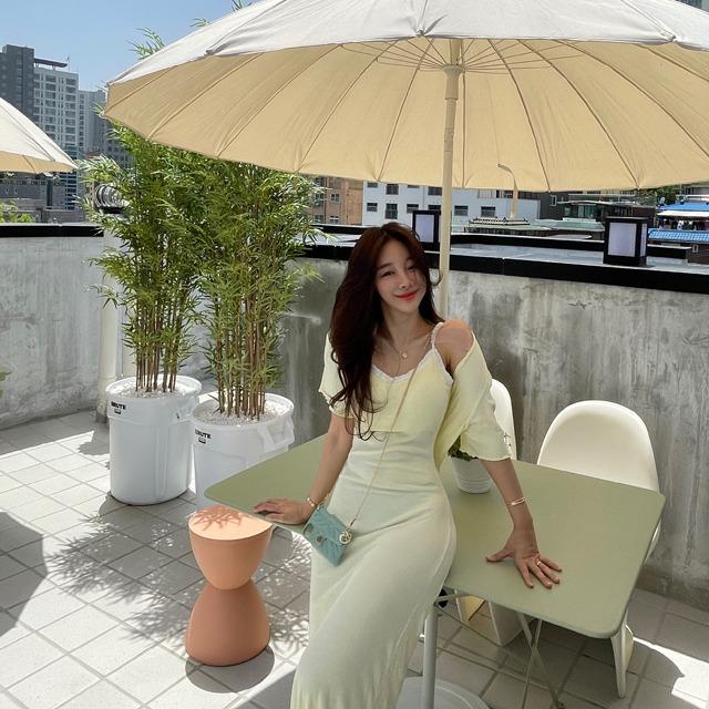 mybany-레몽레이스가디건SET♡韓國女裝外套