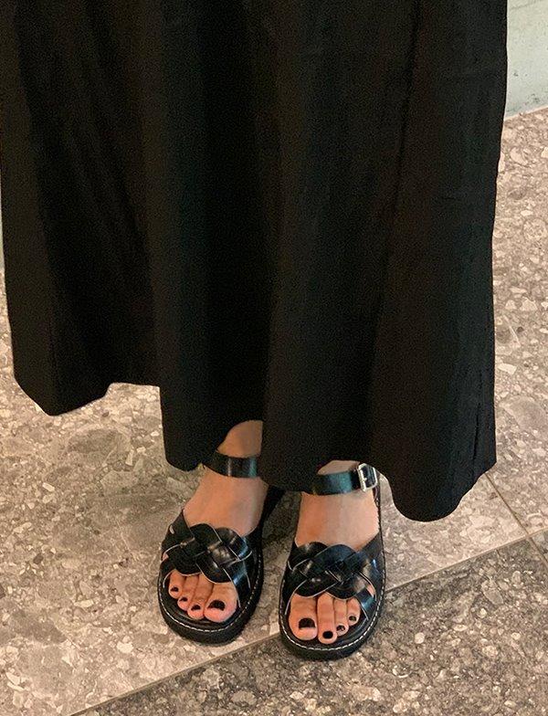 browncode-92 twist shoes♡韓國女裝鞋