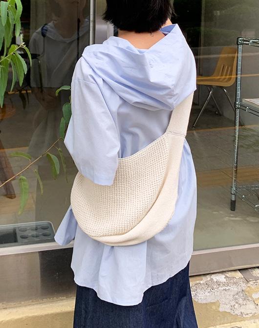 baon-테크 니트 숄더백 (2color)♡韓國女裝袋