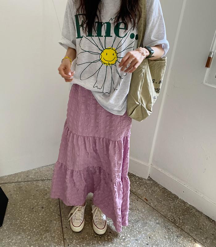 sibuya-[파인 플라워 tee (남녀 공용)]♡韓國女裝上衣