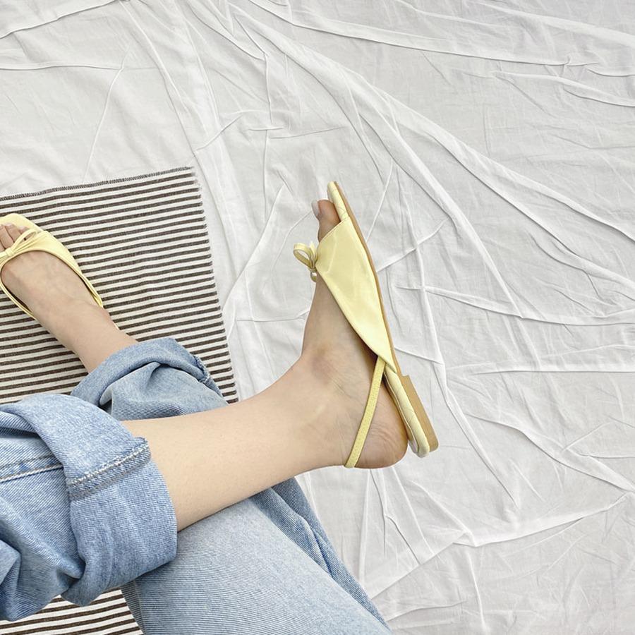 blancjo-슬림 리본 뒷밴딩 샌들_ss03968♡韓國女裝鞋
