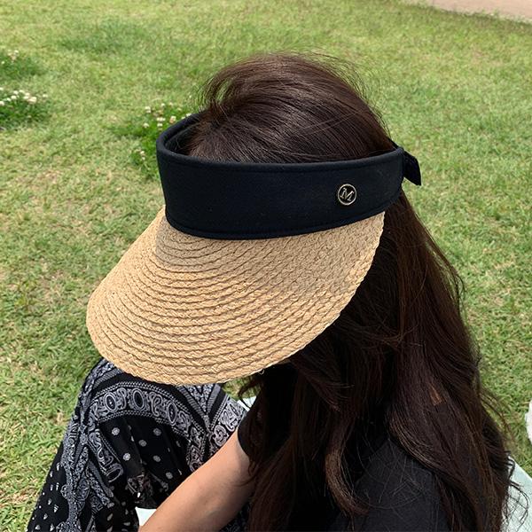 chicfox-마크엠 라피아썬캡♡韓國女裝飾品