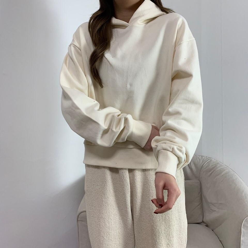 moommoom-[7컬러] 베이직 박시 크롭 후드 티셔츠♡韓國女裝上衣
