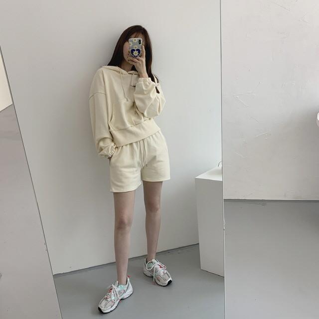 moommoom-[3컬러] 썸머 트레이닝 상하의 세트♡韓國女裝套裝