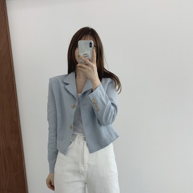 moommoom-[3컬러] 썸머 린넨 숏자켓♡韓國女裝外套