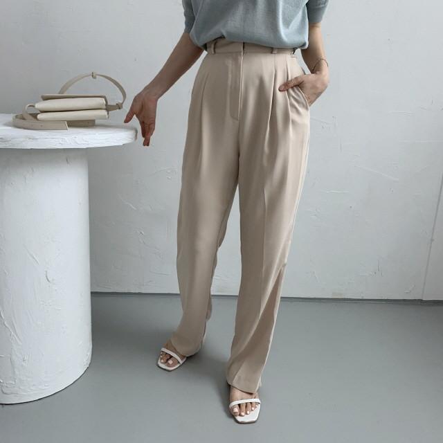 moommoom-[2컬러] 살랑살랑 주름 배기 슬랙스♡韓國女裝褲