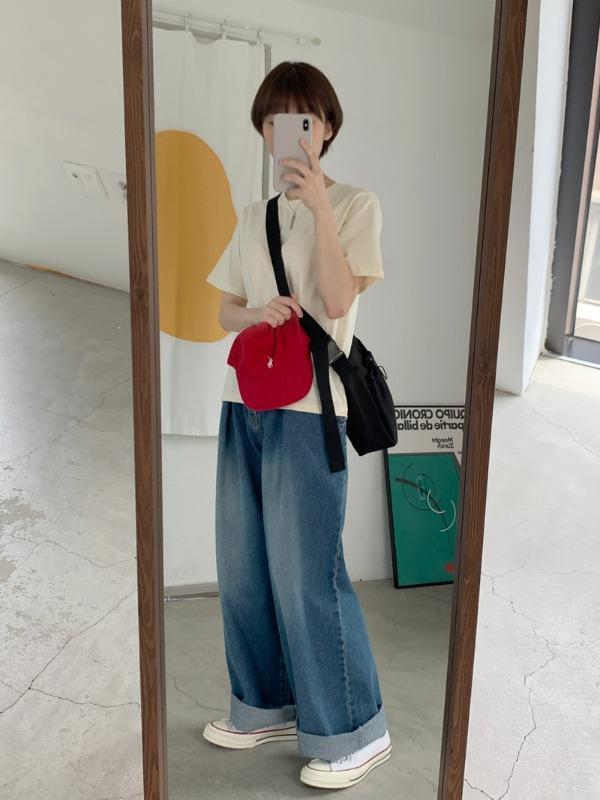 loveandpop-이지 베이직반팔티♡韓國女裝上衣
