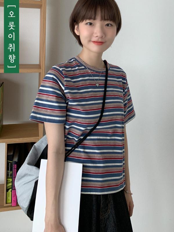 loveandpop-(자체제작)아지 크롭반팔♡韓國女裝上衣