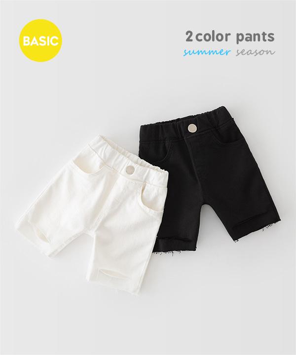 harukids-쏠트컷팅팬츠[팬츠BDDV52]♡韓國童裝褲