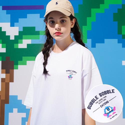 fairplay142-[[티떠블유엔X버블보블] 버블릴레이 반팔 화이트 HHST3355]♡韓國男裝上衣