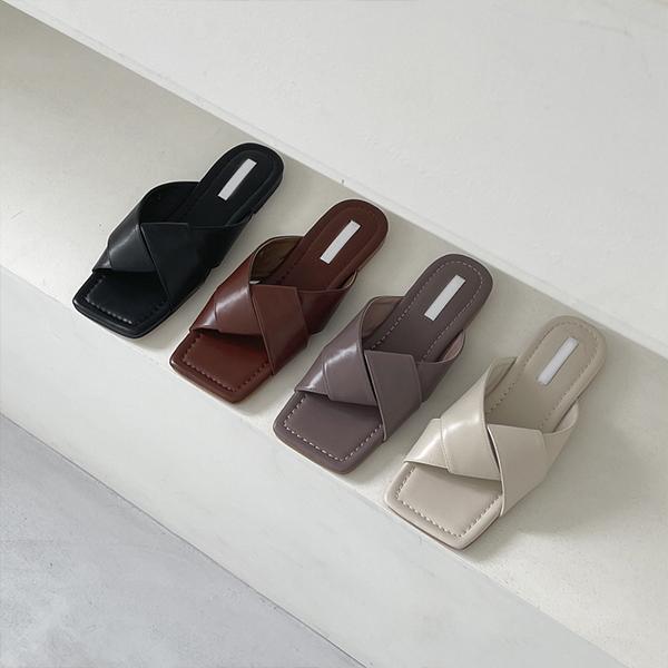 shehj-[러블리 셔링 쪼리 스퀘어 슬리퍼]♡韓國女裝鞋