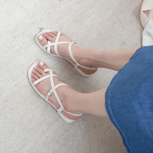 misscandy-[no.20569 크로스스트랩 쿠셔닝 밴딩샌들]♡韓國女裝鞋