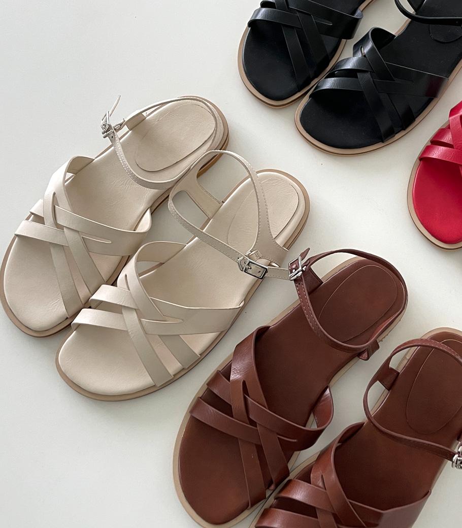 cocoblack-[크로스 스트랩 샌들]♡韓國女裝鞋