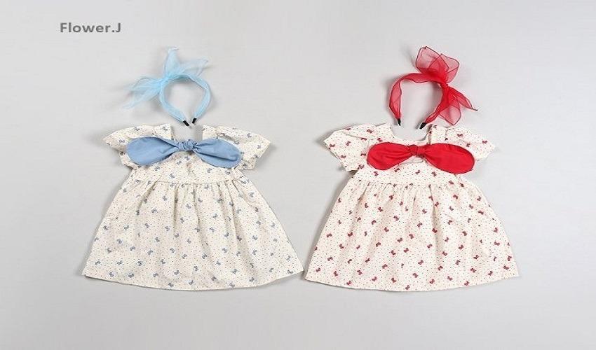 lovely2min-플라워제이 리본원피스(XS~XL) - lovely2min♡韓國童裝連身裙