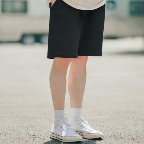 fairplay142-[[티떠블유엔] 베이직 릴렉스 숏팬츠 블랙 SHSP3390]♡韓國男裝褲子