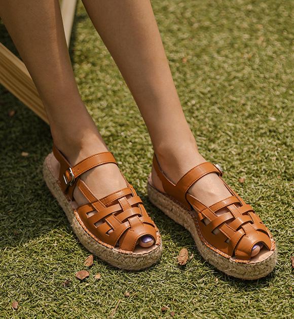 justone-토롱 에스파듀 웨지샌들♡韓國女裝鞋