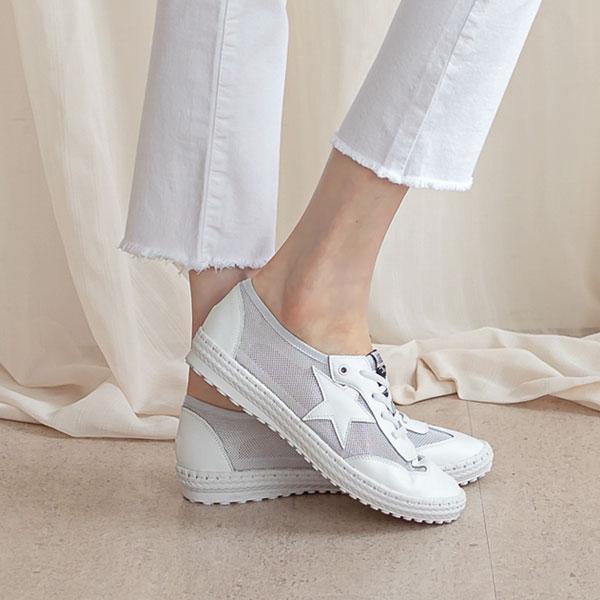 misscandy-[no.20585 별패치 썸머 매쉬스니커즈]♡韓國女裝鞋
