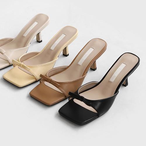 sappun-린드닝 뮬 슬리퍼 (6.5cm)♡韓國女裝鞋