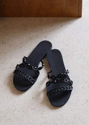 annanblue-[H chain slipper]♡韓國女裝鞋
