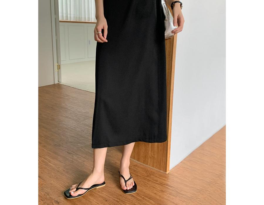 frombeginning-더블스트랩 스퀘어플리플랍  (8color)♡韓國女裝鞋