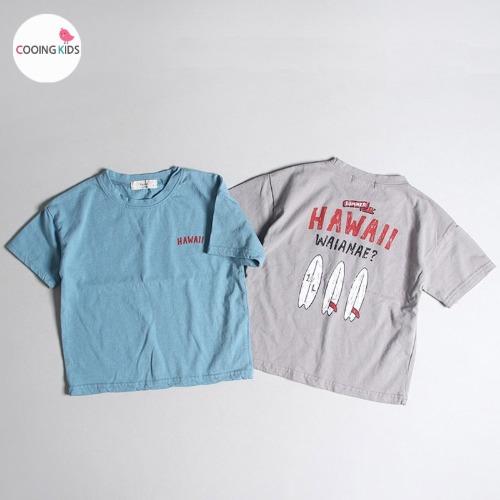 cooingkids-H하와이반팔티♡韓國童裝上衣