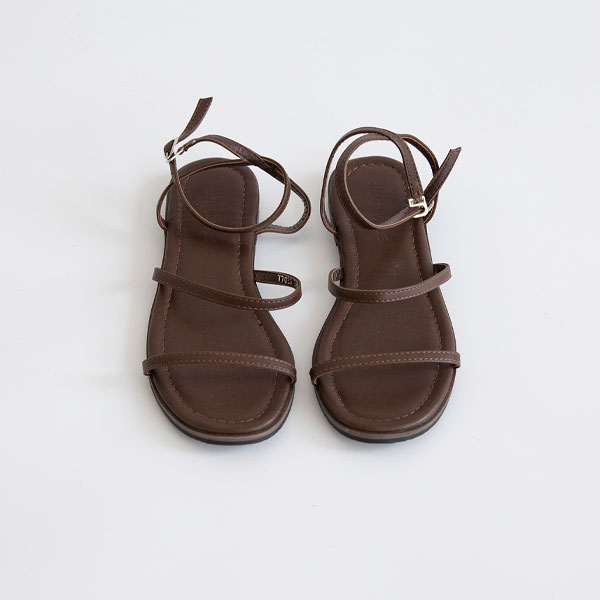 misscandy-[no.20570 슬림스트랩 버클 플랫샌들]♡韓國女裝鞋