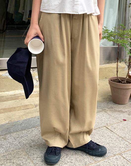 baon-[24시간 new 5% sale] [unisex] 맥스 린넨 벌룬 팬츠 (3color)♡韓國女裝褲
