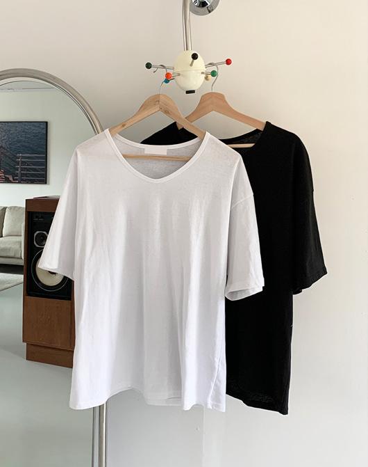baon-[24시간 new 5% sale] 로벤 유넥 반팔 티 (4color)♡韓國女裝上衣
