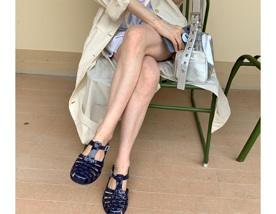 frombeginning-젤리 루버버클샌들 (9color)♡韓國女裝鞋