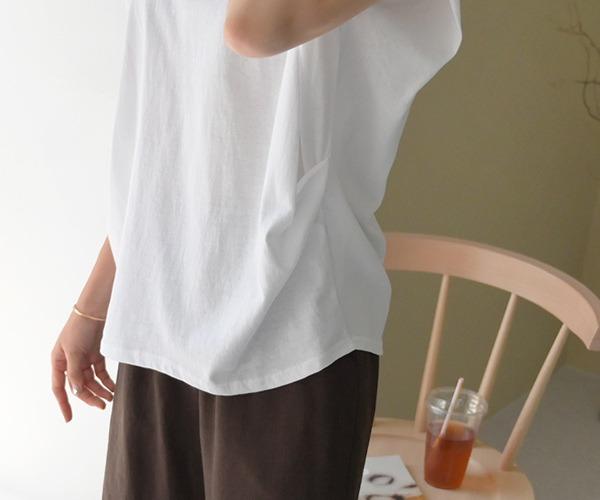 DailyN-네브 루즈핏 셔링 민소매 티셔츠♡韓國女裝上衣