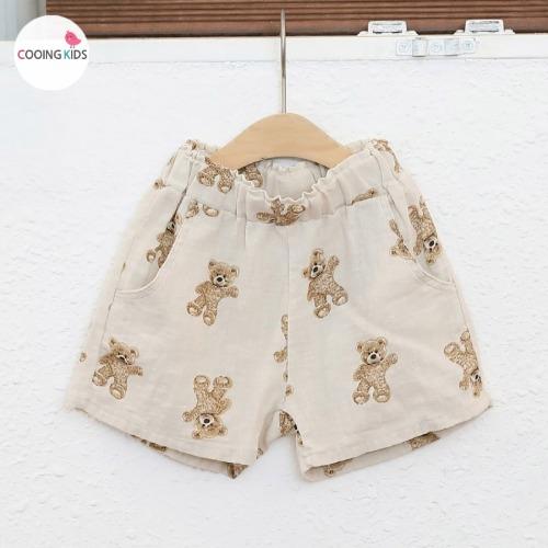cooingkids-D곰돌이반바지 여름 아동복 여자아기옷 쇼핑몰 티셔츠♡韓國童裝褲
