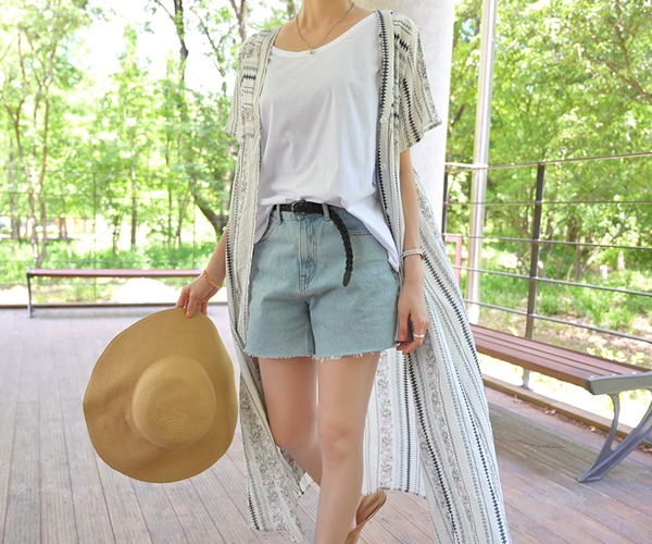 DailyN-올라 투웨이 로브 롱 원피스♡韓國女裝連身裙