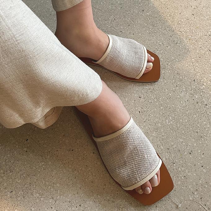 wingsmall-룩하우(1664망사슬리퍼)♡韓國女裝鞋