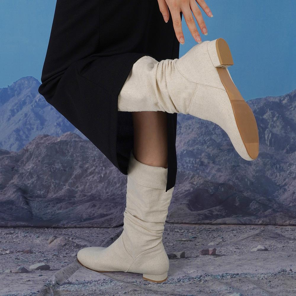 blackup-쥬드런 린넨 부츠 (린넨 100%)♡韓國女裝鞋