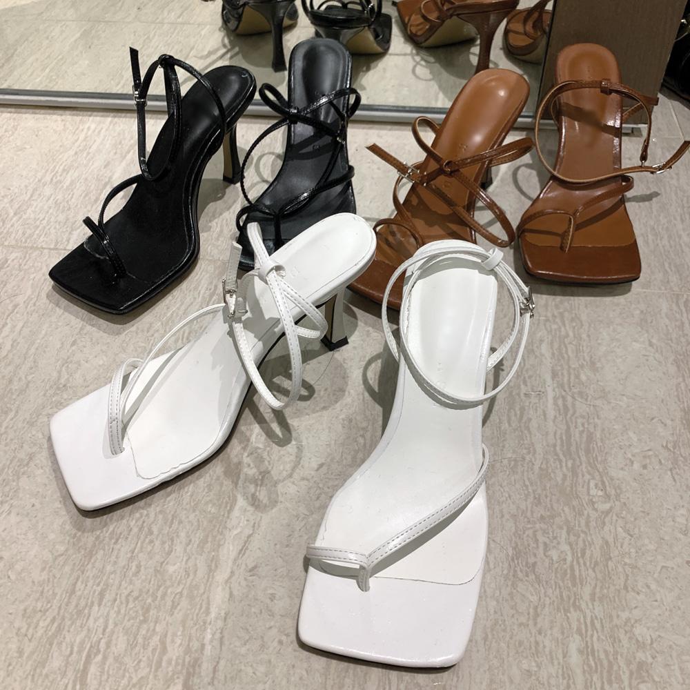 uinme-언발 스트랩 샌들 - [ 3color ] - 유인미언발 스트랩 샌들 - [ 3color ] - 유인미♡韓國女裝鞋