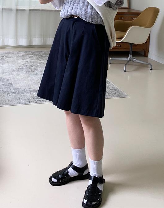 baon-[24시간 new 5% sale] 오렌스 핀턱 숏 팬츠 (4color)♡韓國女裝褲