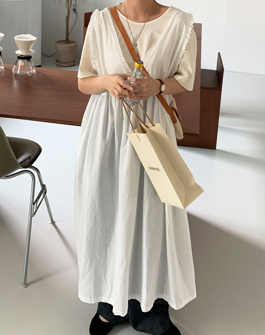 baon-[24시간 new 5% sale] 초키 레이스 롱 원피스♡韓國女裝連身裙
