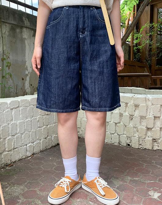 baon-[24시간 new 5% sale] 프레린 데님 숏 팬츠♡韓國女裝褲