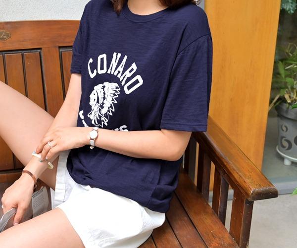 DailyN-모아나 프린팅 슬라브 반팔 티셔츠♡韓國女裝上衣