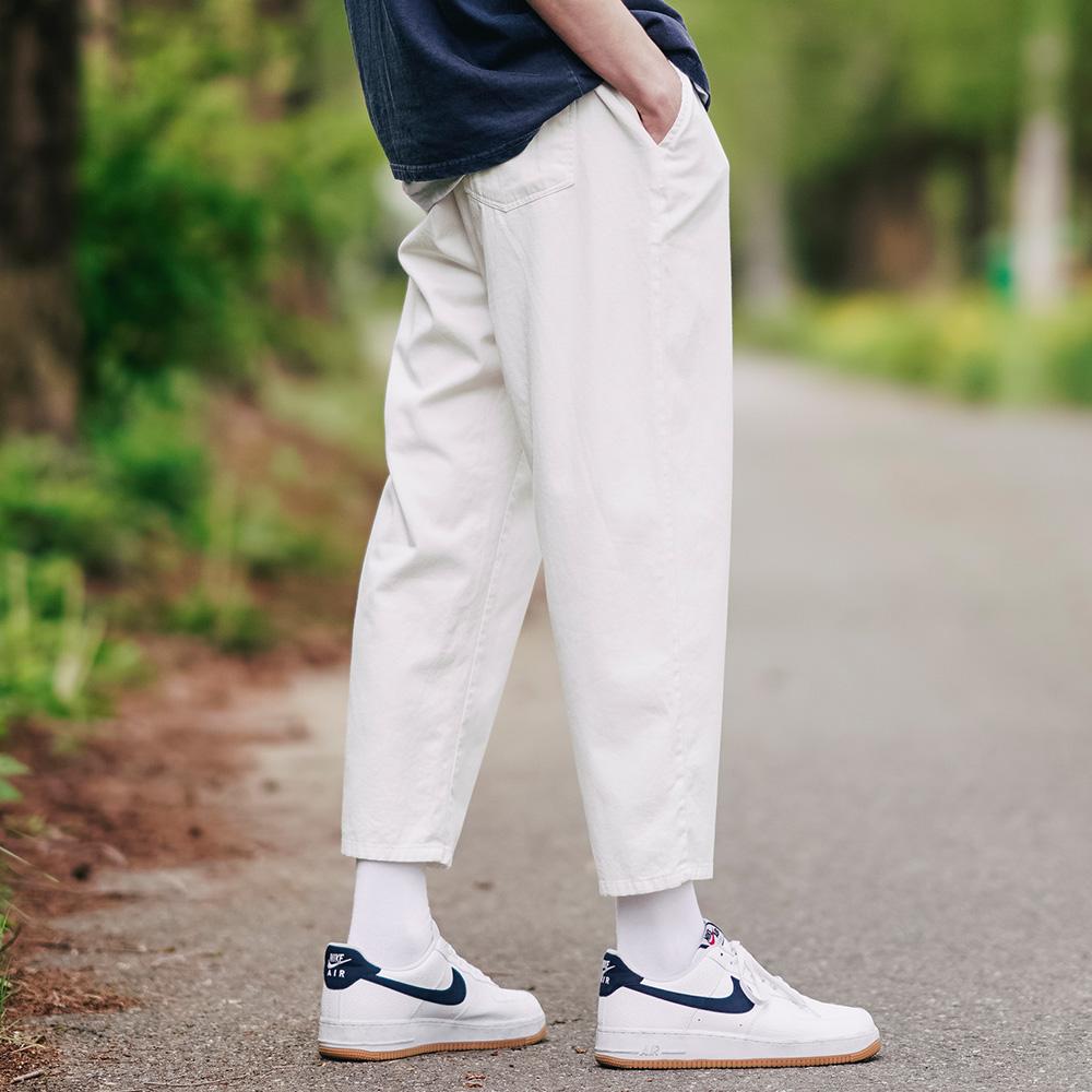 fairplay142-[[더블유브이프로젝트]플레인(여름용) 코튼 밴딩 팬츠 아이보리 CJLP7509]♡韓國男裝褲子