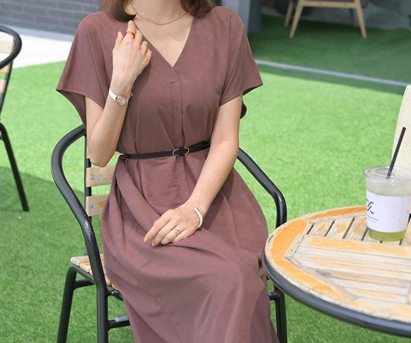 DailyN-하로 투웨이 벨트 롱 원피스♡韓國女裝連身裙