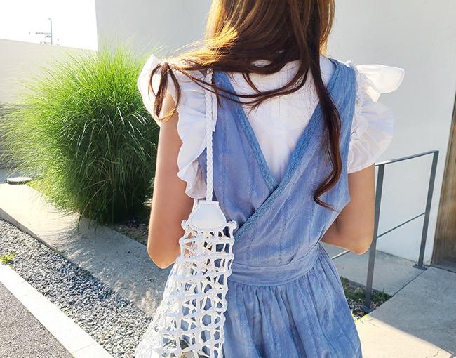 helloyoonsoo-소녀감성 발동 에이프런 원피스♡韓國女裝連身裙