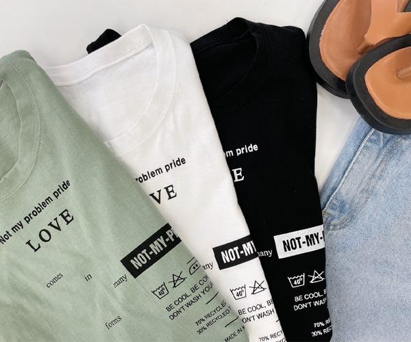 DailyN-워시 레터링 롱 나시 티셔츠♡韓國女裝上衣
