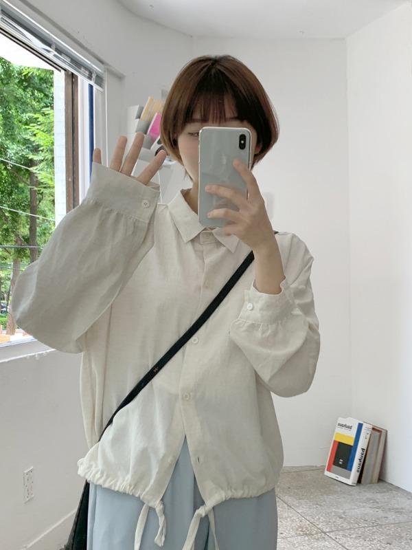 loveandpop-터닝 스트링남방♡韓國女裝上衣