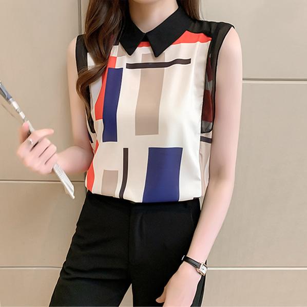 fashion-full-제린느 카라넥 나시 블라우스(TIME SALE 20%)♡韓國女裝上衣