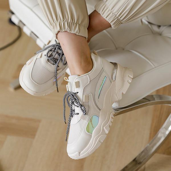 chicfox-홀로그램 키높이 운동화♡韓國女裝鞋