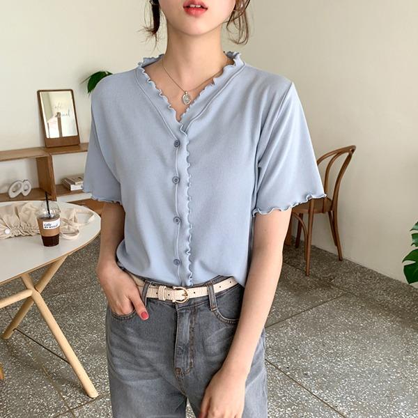 66girls-프릴리반팔가디건T♡韓國女裝外套